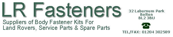 Land Rover Parts, Land Rover fastener kits, Land Rover cylinder head bolt sets, Land Rover body fastener kits, Land Rover exhaust fitting kits